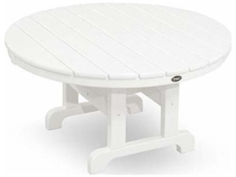 Trex® Outdoor Furniture Cape Cod Round 36'' Conversation Table in Classic White