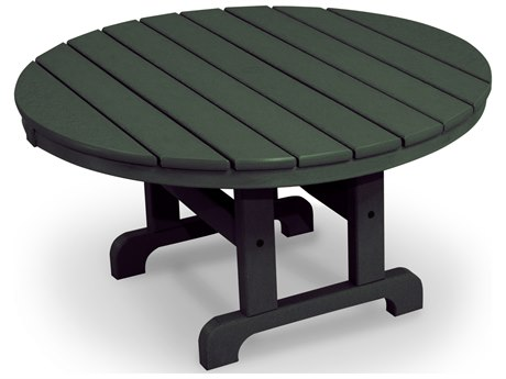 Trex® Outdoor Furniture Cape Cod Round 36'' Conversation Table in Rainforest Canopy