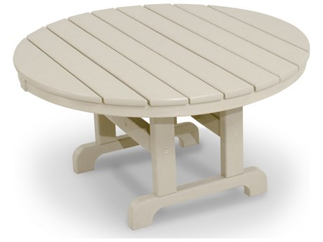 Trex® Outdoor Furniture Cape Cod Round 36'' Conversation Table in Sand Castle