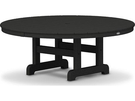 Trex® Outdoor Furniture Cape Cod Round 48'' Conversation Table in Charcoal Black