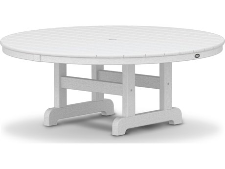 Trex® Outdoor Furniture Cape Cod Round 48'' Conversation Table in Classic White