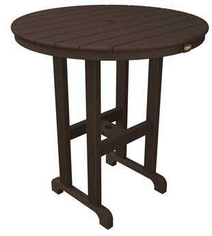 Trex® Monterey Bay Recycled Plastic 36 Round Counter Table TRXTXRRT236