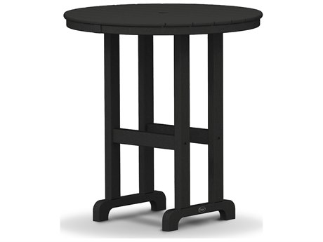 Trex® Outdoor Furniture Monterey Bay Round 36'' Counter Table in Charcoal Black