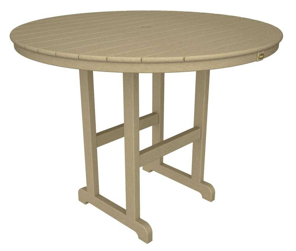 Trex 174 Monterey Bay Recycled Plastic 48 Round Counter Table