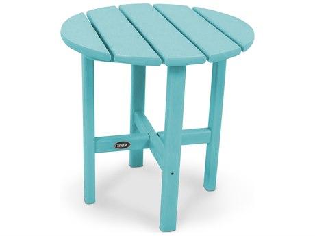 Trex® Outdoor Furniture Cape Cod Round 18'' Side Table in Aruba