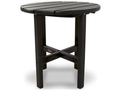 Trex® Outdoor Furniture Cape Cod Round 18'' Side Table in Charcoal Black