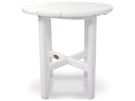 Trex® Outdoor Furniture Cape Cod Round 18'' Side Table in Classic White