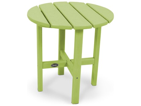 Trex® Outdoor Furniture Cape Cod Round 18'' Side Table in Lime