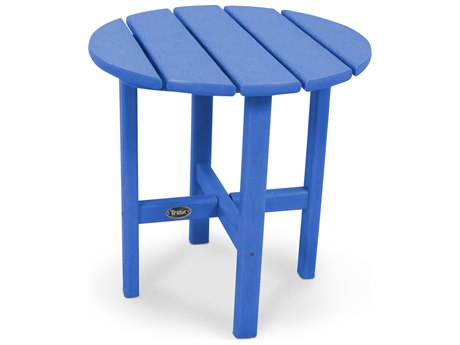Trex® Outdoor Furniture Cape Cod Round 18'' Side Table in Pacific Blue