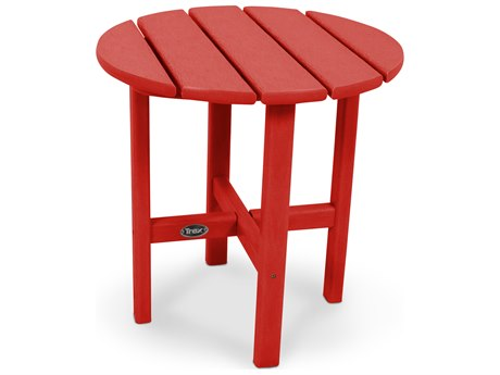 Trex® Outdoor Furniture Cape Cod Round 18'' Side Table in Sunset Red