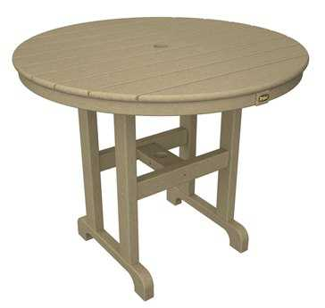 Trex® Monterey Bay Recycled Plastic 36 Round Dining Table TRXTXRT236
