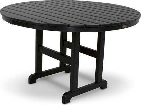 Trex® Monterey Bay Recycled Plastic 48 Round Dining Table TRXTXRT248
