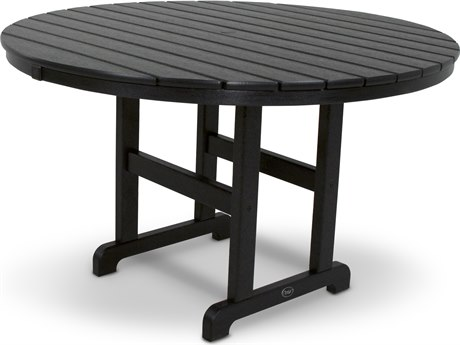 Trex® Outdoor Furniture Monterey Bay Round 48'' Dining Table in Charcoal Black