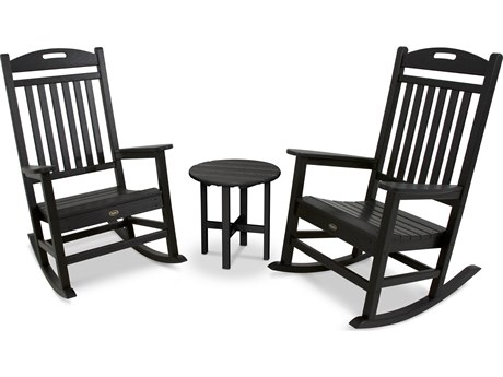 Trex® Outdoor Furniture Yacht Club Rocker 3-Piece Set in Charcoal Black