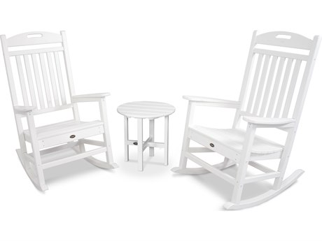 Trex® Outdoor Furniture Yacht Club Rocker 3-Piece Set in Classic White