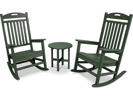 Trex® Outdoor Furniture Yacht Club Rocker 3-Piece Set in Rainforest Canopy