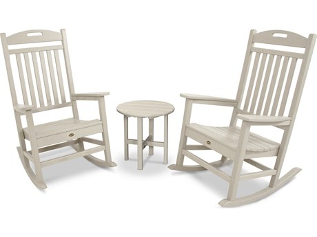 Trex® Outdoor Furniture Yacht Club Rocker 3-Piece Set in Sand Castle