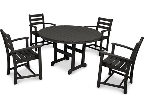 Trex® Outdoor Furniture Monterey Bay 5-Piece Dining Set in Charcoal Black TRXTXS1011CB