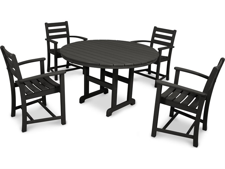 Trex Outdoor Furniture Monterey Bay Dining Arm Chair Charcoal Black