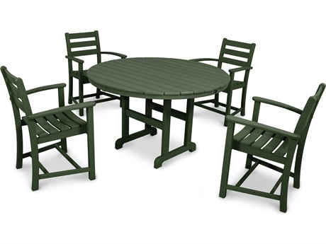 Trex® Outdoor Furniture Monterey Bay 5-Piece Dining Set in Rainforest Canopy PatioLiving
