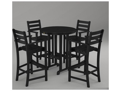 Trex® Outdoor Furniture Monterey Bay 5-Piece Bar Set in Charcoal Black TRXTXS1021CB