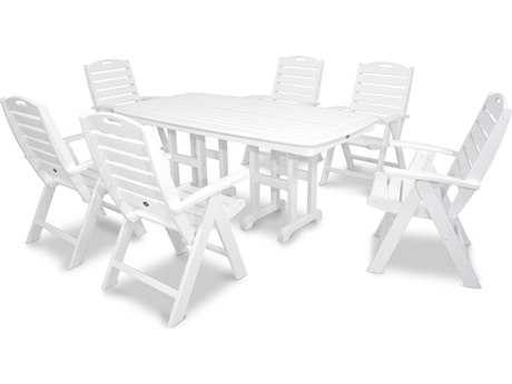 Trex® Yacht Club Recycled Plastic 7-Piece Highback Dining Set