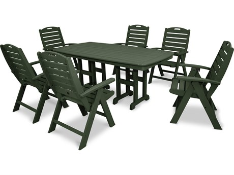 Trex® Outdoor Furniture Yacht Club 7-Piece Highback Dining Set in Rainforest Canopy