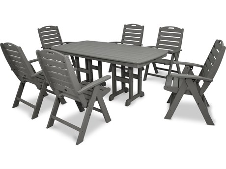 Trex® Outdoor Furniture Yacht Club 7-Piece Highback Dining Set in Stepping Stone