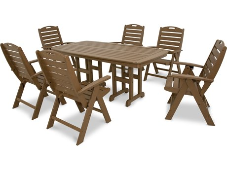 Trex® Outdoor Furniture Yacht Club 7-Piece Highback Dining Set in Tree House