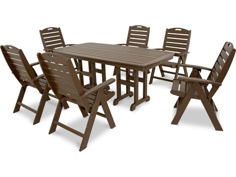 Trex® Outdoor Furniture Yacht Club 7-Piece Highback Dining Set in Vintage Lantern