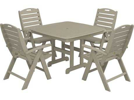 Trex® Yacht Club Recycled Plastic Highback 5-Pc. Dining Set TRXTXS1041