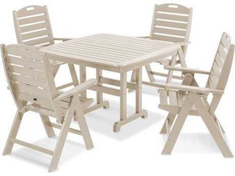 Trex® Outdoor Furniture Yacht Club Highback 5-Piece Dining Set in Sand Castle