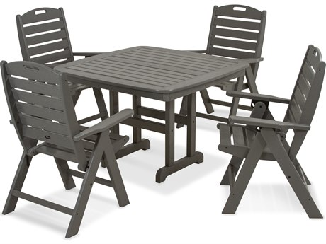 Trex® Outdoor Furniture Yacht Club Highback 5-Piece Dining Set in Stepping Stone
