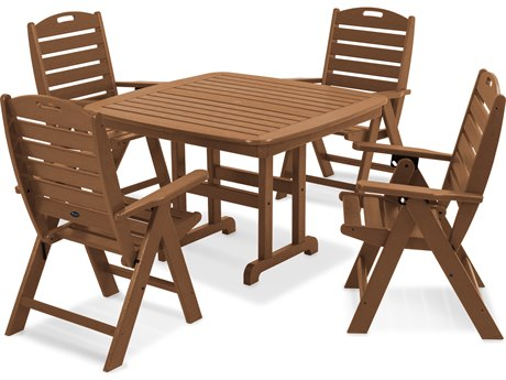 Trex® Outdoor Furniture Yacht Club Highback 5-Piece Dining Set in Tree House