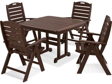 Trex® Outdoor Furniture Yacht Club Highback 5-Piece Dining Set in Vintage Lantern