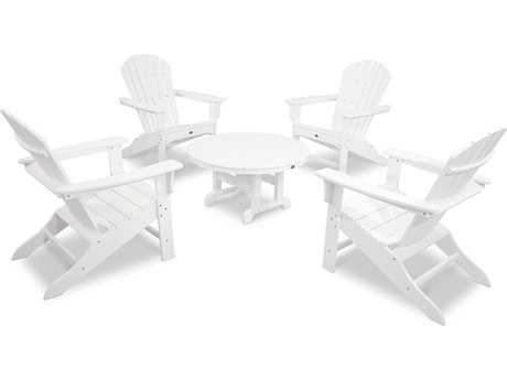 Trex® Cape Cod Recycled Plastic 5-Piece Adirondack Conversation Group TRXTXS1051