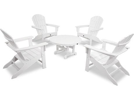 Trex® Outdoor Furniture Cape Cod Shellback 5-Piece Adirondack Conversation Group in Classic White