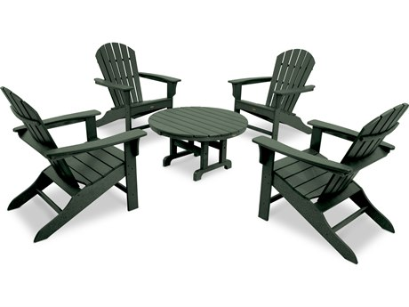 Trex® Outdoor Furniture Cape Cod Shellback 5-Piece Adirondack Conversation Group in Rainforest Canopy