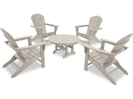 Trex® Outdoor Furniture Cape Cod Shellback 5-Piece Adirondack Conversation Group in Sand Castle