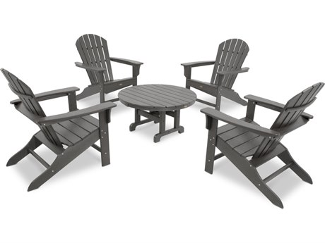 Trex® Outdoor Furniture Cape Cod Shellback 5-Piece Adirondack Conversation Group in Stepping Stone