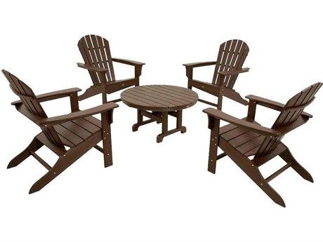 Trex® Outdoor Furniture Cape Cod Shellback 5-Piece Adirondack Conversation Group in Vintage Lantern