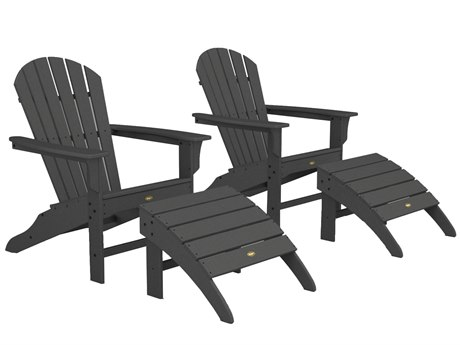 Trex® Outdoor Furniture Cape Cod Shellback Adirondack Set with Ottomans in Stepping Stone