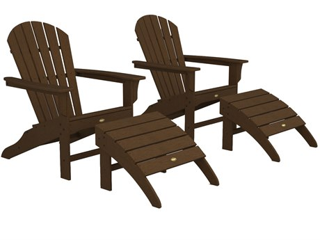 Trex® Outdoor Furniture Cape Cod Shellback Adirondack Set with Ottomans in Tree House
