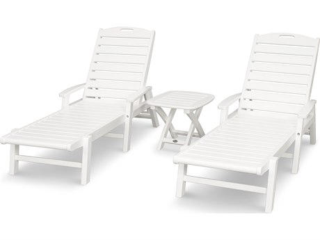 Trex® Outdoor Furniture Yacht Club 3-Piece Chaise Set in Classic White