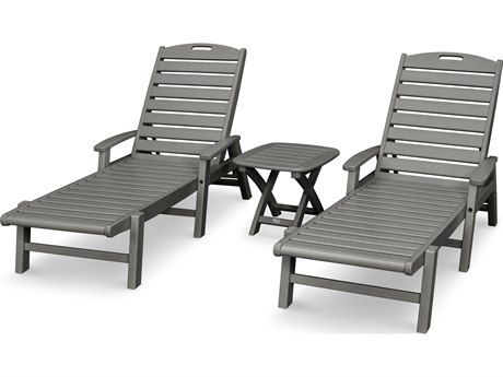 Trex® Outdoor Furniture Yacht Club 3-Piece Chaise Set in Stepping Stone