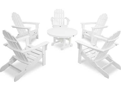 Trex® Cape Cod Recycled Plastic 6-Piece Folding Adirondack Conversation Set TRXTXS1151