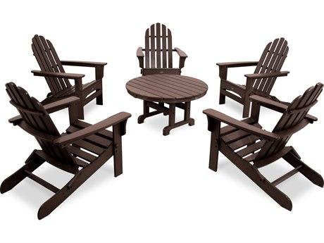 Trex® Outdoor Furniture Cape Cod 6-Piece Folding Adirondack Conversation Set in Vintage Lantern