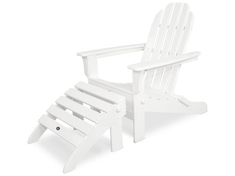 Trex® Outdoor Furniture Cape Cod 2-Piece Folding Adirondack Seating Set in Classic White