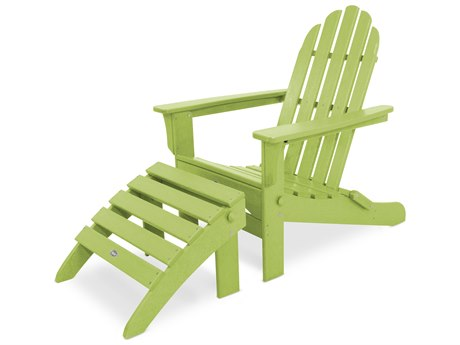 Trex® Outdoor Furniture Cape Cod 2-Piece Folding Adirondack Seating Set in Lime