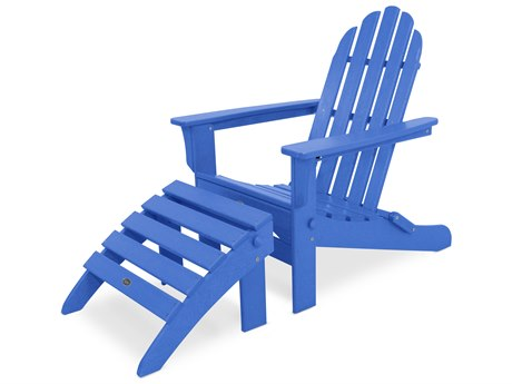 Trex® Outdoor Furniture Cape Cod 2-Piece Folding Adirondack Seating Set in Pacific Blue